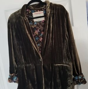 EUC Gorgeous Deep Green Velvet Blazer